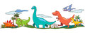 Dinosaur world in children imagination create by vector Royalty Free Stock Images