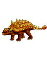 Dinosaurs ankylosaurus a whole body covered with thorns Royalty Free Stock Photography
