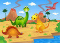 Dinosaurs cartoon Royalty Free Stock Photo
