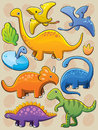 Dinosaurs Collection Royalty Free Stock Photography