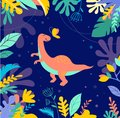 Dinosaurs collection, cute illustrations of prehistoric animals