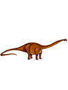Dinosaurs diplodocus a long tail long neck and very small head Stock Images
