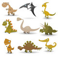 Dinosaurs set Stock Image