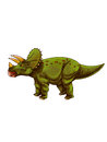 Dinosaurs triceratops triceratopswas a medium sized four legged a very big head shield and three angles Royalty Free Stock Image