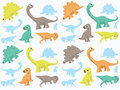 Dinosaurs wallpaper in different colors Stock Photography