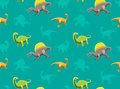 Dinosaurs Wallpaper Vector Illustration 17
