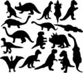Dinosaurus silhouette Stock Photos
