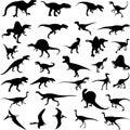 Dinossauro carnívoro em Jurassic Park Fotos de Stock