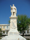 Dionisios solomos greek poet zante island greece dionisios solomos greek poet zante island greece square town statue south Stock Photography