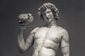 Dionysus Bacchus Wine statue portrait Royalty Free Stock Photo
