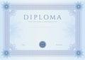 Diploma / Ð¡ertificate award template. Pattern