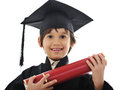 Diploma graduating little student kid, Stock Image
