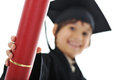 Diploma graduating little student kid Stock Photos