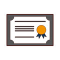 Diploma graduation isolated icon