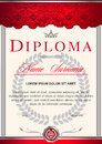 The diploma is vertical in the style of vintage, rococo, baroque.blue and silver colors