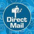 Direct Mail Blue Circular Rings Background Royalty Free Stock Photo