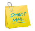 Direct mail memo post illustration design over a white background Stock Image
