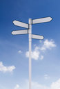 Direction signs road on blue sky Royalty Free Stock Photos