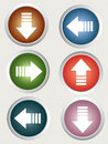 Directional arrow buttons Stock Image