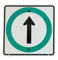 Directional arrow on sign Royalty Free Stock Photos