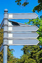 Directional road signs Royalty Free Stock Photo