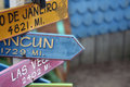 Directional Signs in Cape Cod Royalty Free Stock Photo
