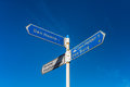 Directional Signs on Texel Royalty Free Stock Photo