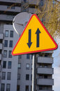 Directions sign traffic showing two Royalty Free Stock Image