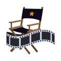 Director chair cinema movie design