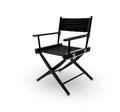 Director chair including clipping path Royalty Free Stock Photography