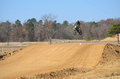 Dirt Bike Flying High Stock Images