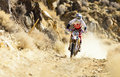 Dirt Bike Racer Royalty Free Stock Photography