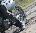 Dirt bike rear wheel Royalty Free Stock Photo
