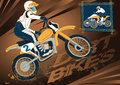 Dirt bike vector illustration of a Royalty Free Stock Photo