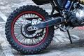 Dirt Bike Wheel Royalty Free Stock Photo