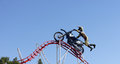Dirt biking stunt motor amusement park in dubai Royalty Free Stock Image
