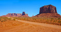 Dirt road in Monument Valley Stock Photography