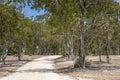 Dirt road at resevoir lake reservoir in australia Stock Photos
