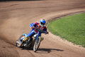 Dirt Track Rider taking a curve Royalty Free Stock Photo