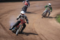 Dirt track riders sibiu romania april speedway romania national championship unidentified participating at romanian national Stock Photos