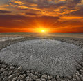 Dirt volcano near kerch city crimea ukraine Stock Images