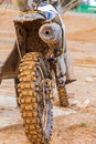 Dirt wheel motorbike sport background Stock Images