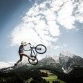 Dirtbiker jumps high