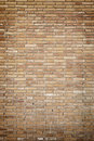 Dirty brick wall detail of a brown and abandoned building facade and Stock Image
