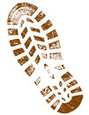 Dirty brown shoeprint detailed highly Royalty Free Stock Photography