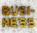 Dirty business grunge style caption Stock Image