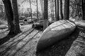Dirty Canoe Royalty Free Stock Photo