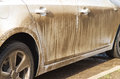 Dirty car side. Royalty Free Stock Photo