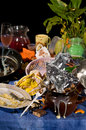 Dirty dishes Royalty Free Stock Photos