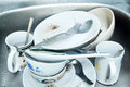 Dirty dishes. Royalty Free Stock Photo